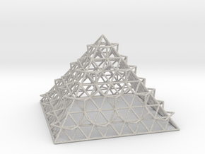 Wire Fractalised Pyramid in Full Color Sandstone