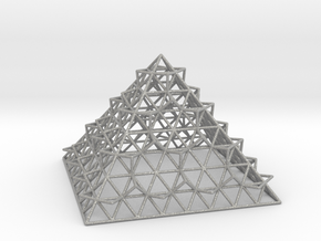 Wire Fractalised Pyramid in Aluminum