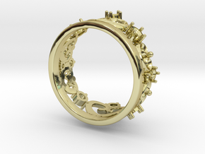 royal ring in 18k Gold Plated Brass