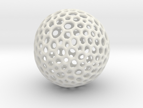 mesh sphere in White Natural Versatile Plastic