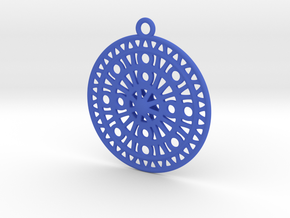 Celtic Ornament, Sanctuary of Hera, Greece (ring) in Blue Processed Versatile Plastic: Medium