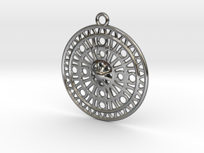 Celtic Ornament, Sanctuary of Hera, Greece (ring) in Fine Detail Polished Silver: Medium