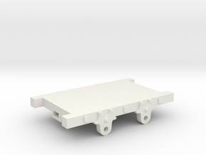 O-16.5 Talyllyn railway wagon chassis in White Natural Versatile Plastic