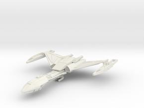 "Klingon D5 refit Cuiser 5.4"" long in White Natural Versatile Plastic"