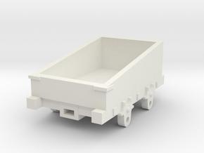 O-16.5 Talyllyn railway incline wagon  in White Natural Versatile Plastic