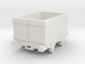 O-16.5 Talyllyn inspired open end wagon in White Natural Versatile Plastic