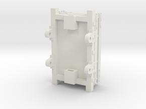 O-16.5 Talyllyn 2 plank Slate Wagon in White Natural Versatile Plastic