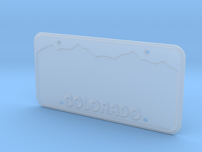 1:10 Scale Custom License Plate - CO in Smoothest Fine Detail Plastic