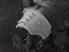 Spikey Blitz - Shoulder Pad in Smooth Fine Detail Plastic