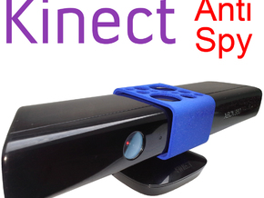 Kinect Anti-Spy slide cover in Blue Strong & Flexible Polished
