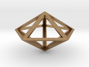 Pentagonal Bipyramid in Natural Brass