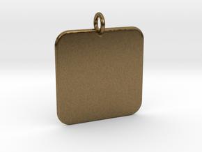 Custome Pendant in Natural Bronze