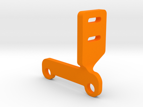 OX CNC - Z Axis Limit Switch Bracket v4 in Orange Processed Versatile Plastic