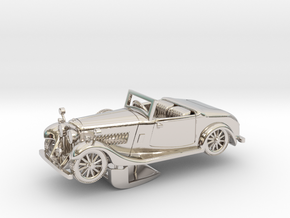 Bentley 1930 4,5L 1:48 in Rhodium Plated Brass