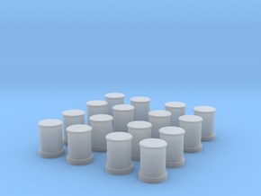 1/100 DKM Bollards Set in Smooth Fine Detail Plastic