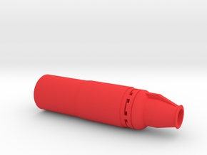 Silent Hitman Sniper Silencer (14mm Self-Cutting) in Red Processed Versatile Plastic