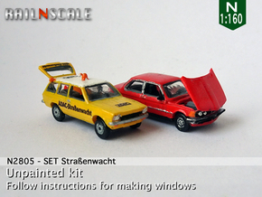 SET Straßenwacht (N 1:160) in Smooth Fine Detail Plastic