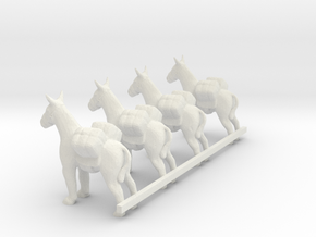 G Scale pack donkeys H in White Natural Versatile Plastic