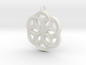 Spirit of Water Pendant in White Natural Versatile Plastic