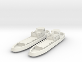 005H Tug Boat Pair 600 WSF in White Natural Versatile Plastic