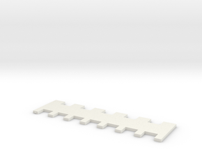 1x2/2x2 7mm Needle Selector in White Natural Versatile Plastic