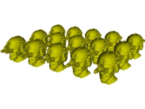 1/50 scale SOCOM operator G helmet & heads x 15 in Smoothest Fine Detail Plastic