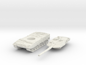 leopard 2A6 scale 1/100 in White Natural Versatile Plastic