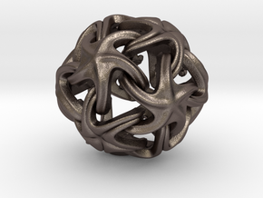 Starfish Ball  in Polished Bronzed Silver Steel
