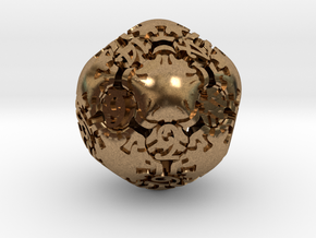 Art Nouveau d20 in Natural Brass