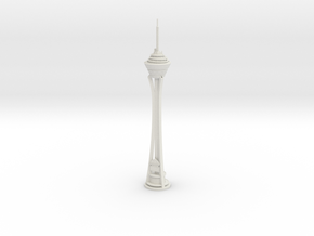 Stratosphere Tower (1:1800) in White Natural Versatile Plastic