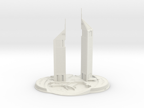 Jumeirah Emirates Towers (1:1800) in White Natural Versatile Plastic