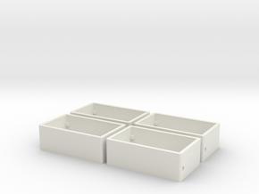 9mm x 16mm Soberton / CUI Speaker Enclosure (4X) in White Natural Versatile Plastic
