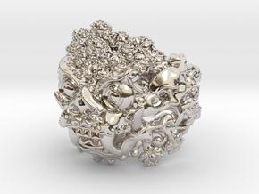 AWARD WINNING DESIGN- Balinese Barong Ring in Rhodium Plated Brass: 6 / 51.5