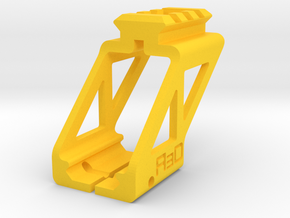 Top Picatinny Rail for G17 G18 G19 M&P40 M&P9 in Yellow Processed Versatile Plastic
