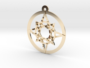 Iso 8 Pointed Star  in 14K Yellow Gold