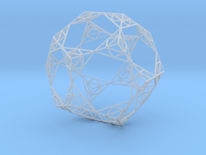 Sierpinski Wire Dodecahedron in Smooth Fine Detail Plastic
