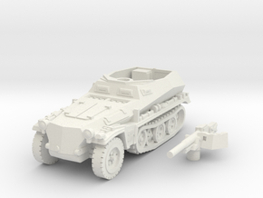 sdkfz 250 A10 (mid) scale 1/100 in White Natural Versatile Plastic