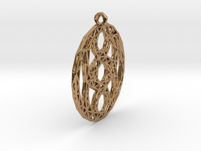 Pendant 6 circles  in Polished Brass