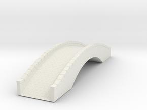 Miiniature Stone Bridge V4 - No Decoration - 22cm in White Natural Versatile Plastic