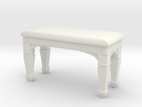 1:48 Piano Bench in White Natural Versatile Plastic
