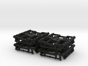 """HOT57s x 4 wood beam passenger truck 60"""" wb in Black Premium Versatile Plastic"""