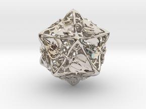 Botanical d20 (Aspen) in Platinum