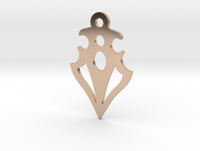 Power Pendant in 14k Rose Gold Plated Brass