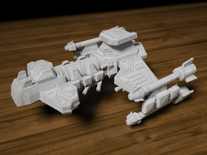 Battlecruiser 65mm long x 56mm wide x 29.5mm tall in Frosted Ultra Detail