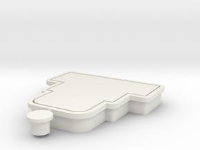 HBDcake-cookiecutter in White Natural Versatile Plastic