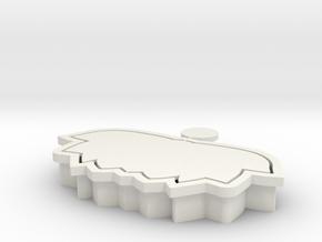 lotus-cookiecutter in White Natural Versatile Plastic