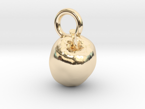 Apple, charms, pendants in 14K Yellow Gold