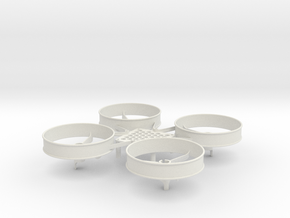 ST_drone_frame_v2_r9 in White Natural Versatile Plastic