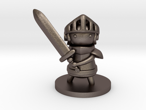 Knight in Polished Bronzed Silver Steel