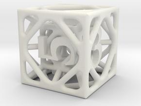 Cage Die6 in White Premium Versatile Plastic